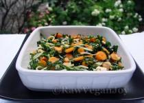 Salata de kale cu morcovi baby si gulii
