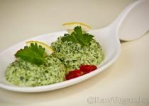 Salata de spanac cu maioneza de mustar